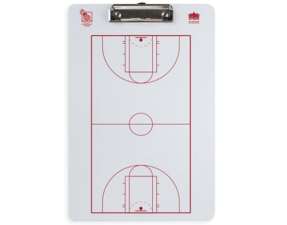 Crown Sporting Goods Dry Erase Basketball Coaching Clipboard