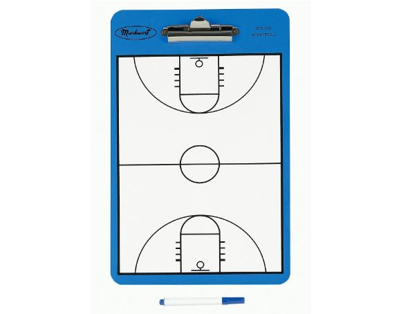 Markwort Two Sided Basketball Court Clipboard