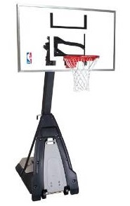"Spalding NBA ""The Beast"" 60″ Glass Portable Basketball System Review"