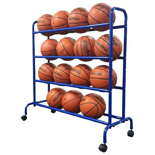 portable high capacity basketball cart rack image