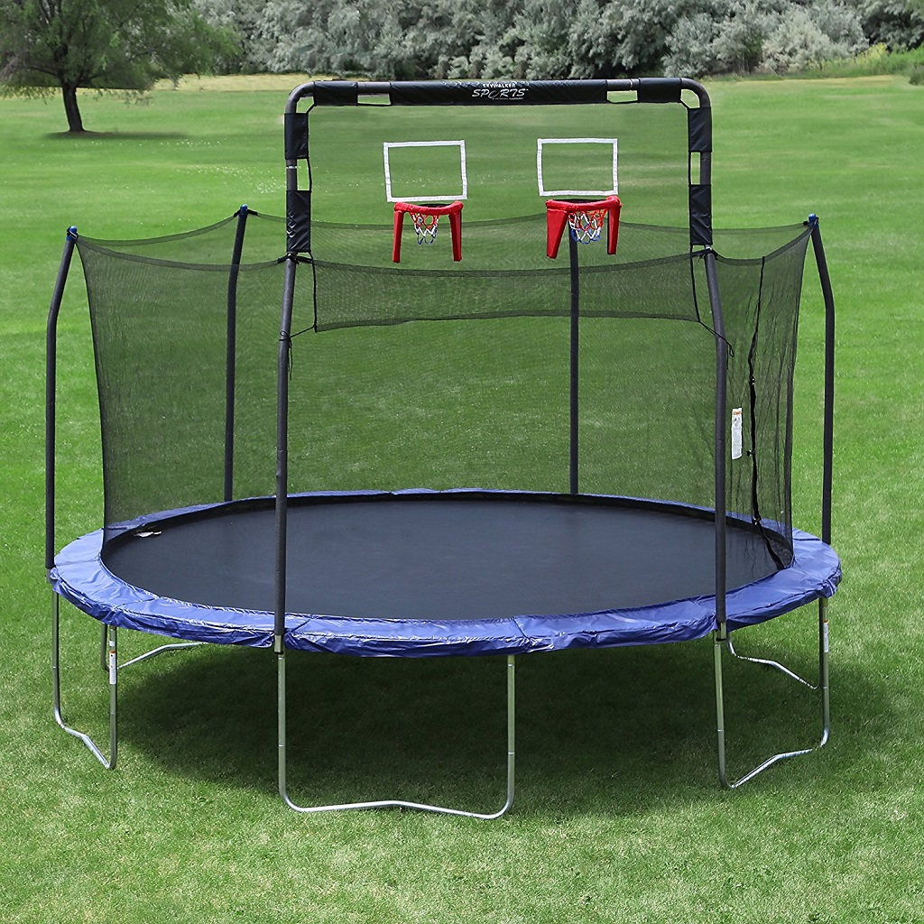 double basketball hoop for trampolines image