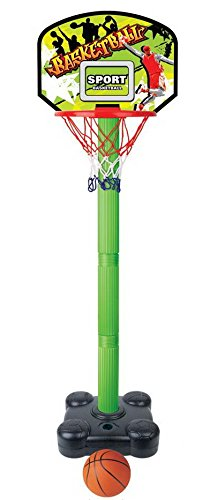 kids junior portable indoor adjustable basketball hoop stand image