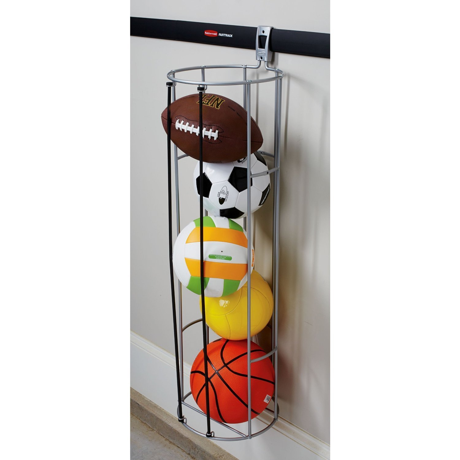 fasttrack garage storage vertical ball rack image