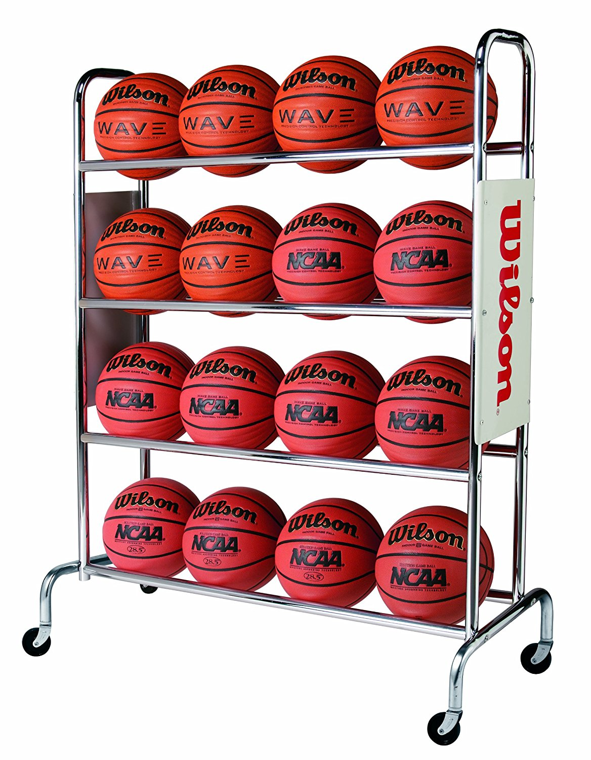 wilson deluxe basketball ball rack image