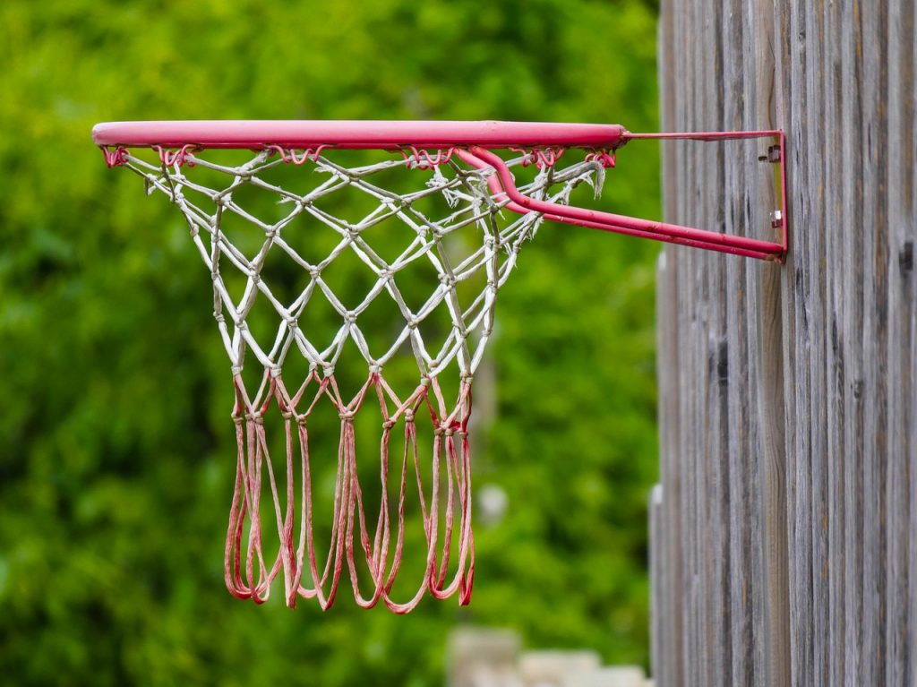 mounted basketball hoop
