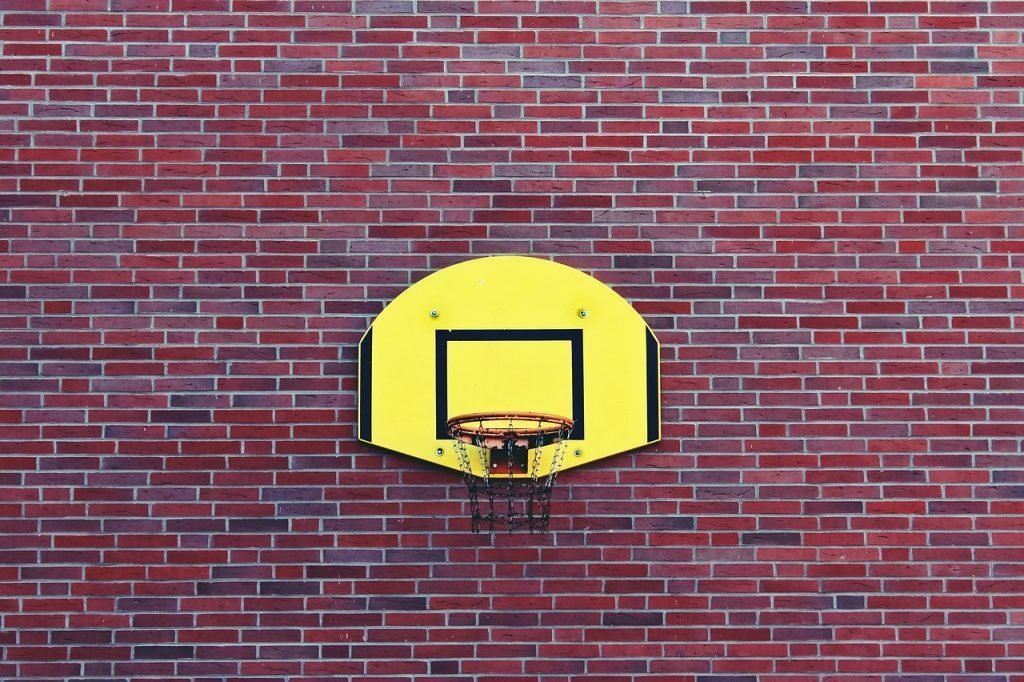 in ground basketball hoop