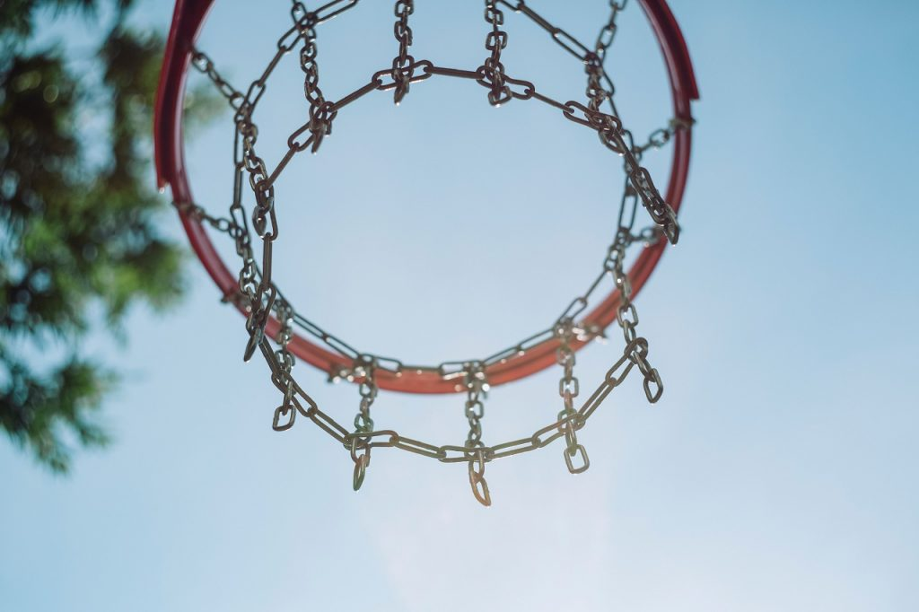 basketball hoop with steel net