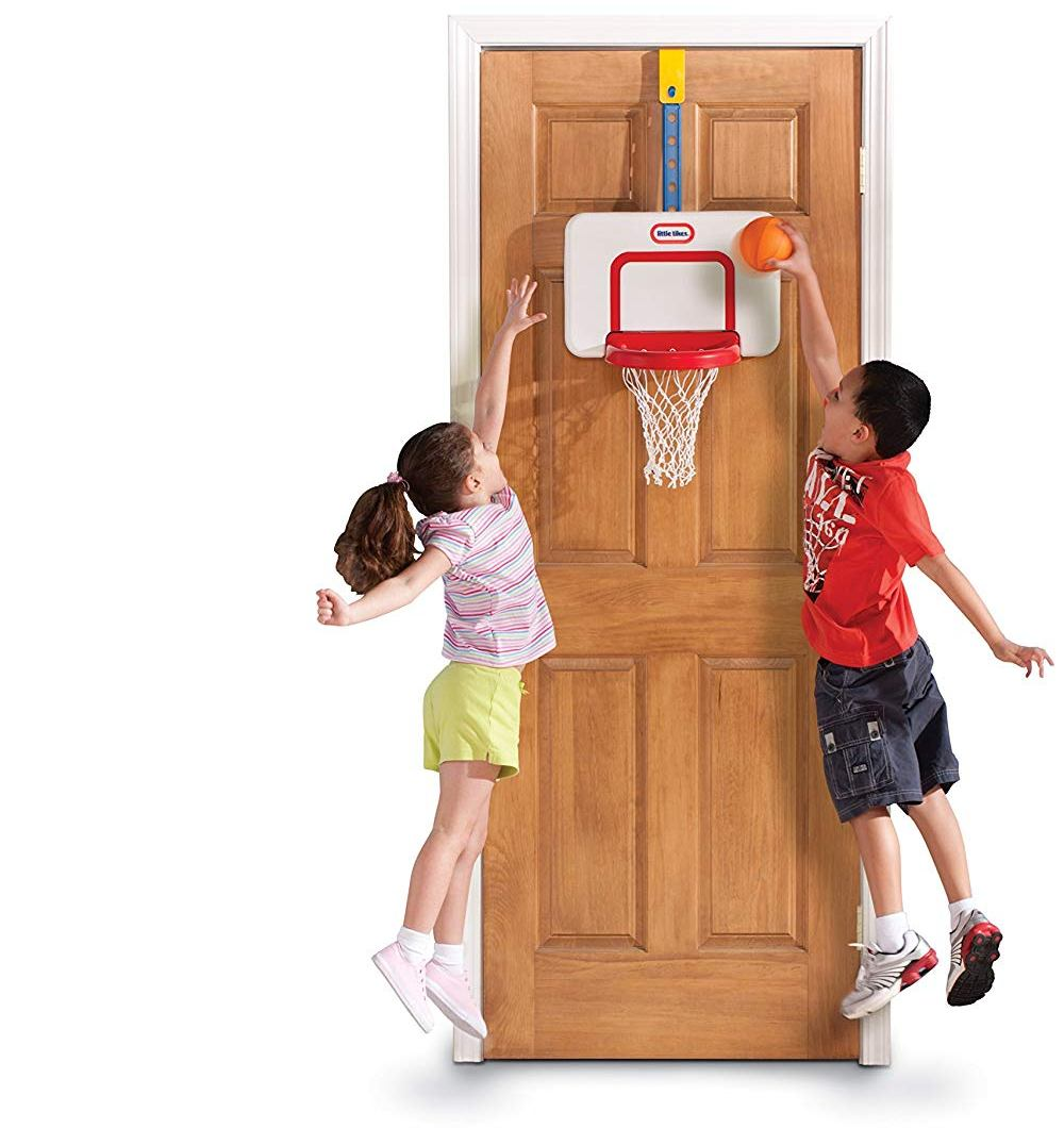 little tikes attach n play basketball set image
