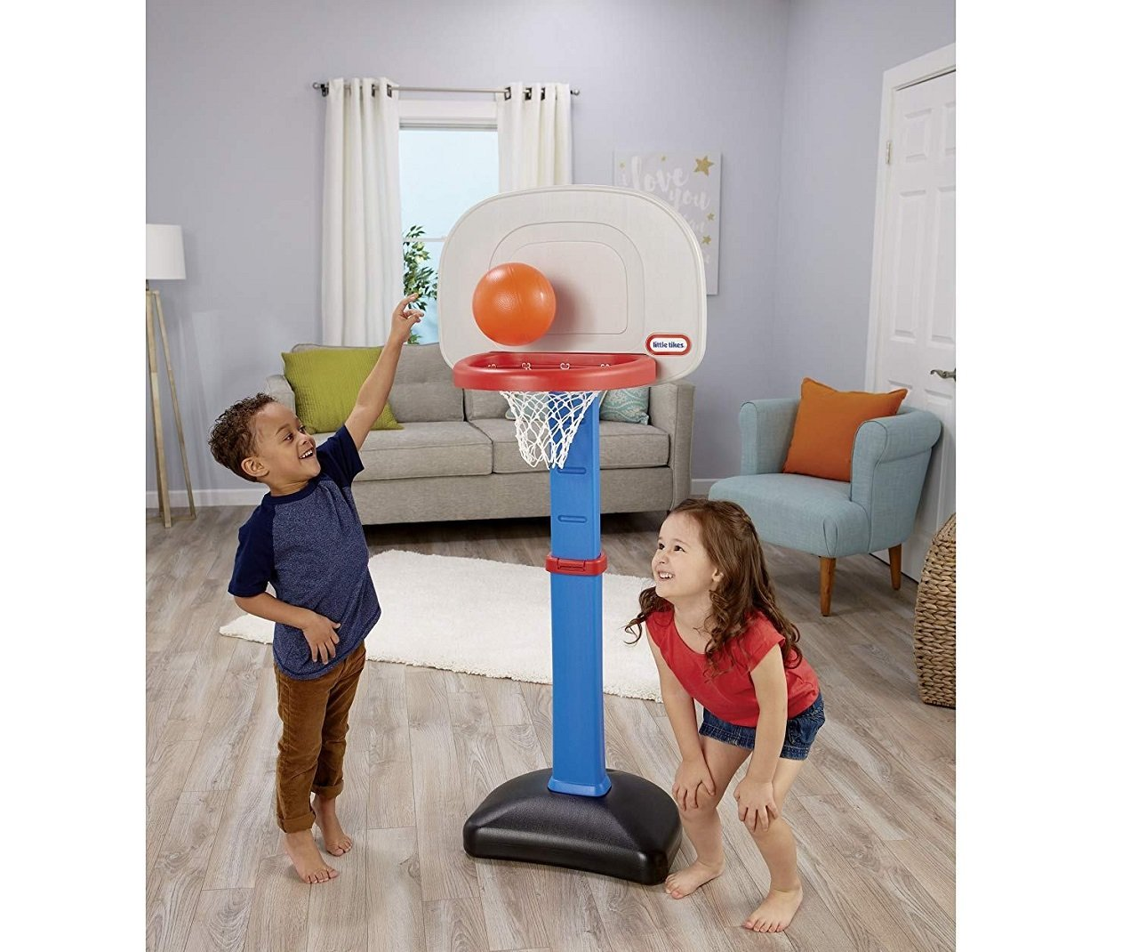 little tikes easyscore basketball set image