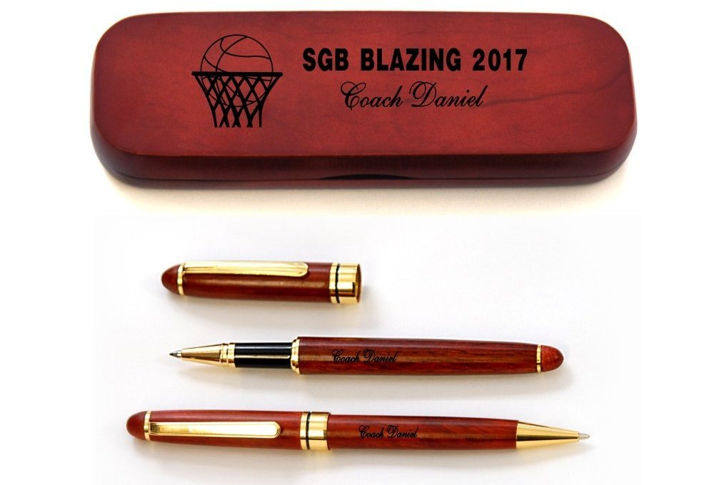 personalized basketball coach pen image