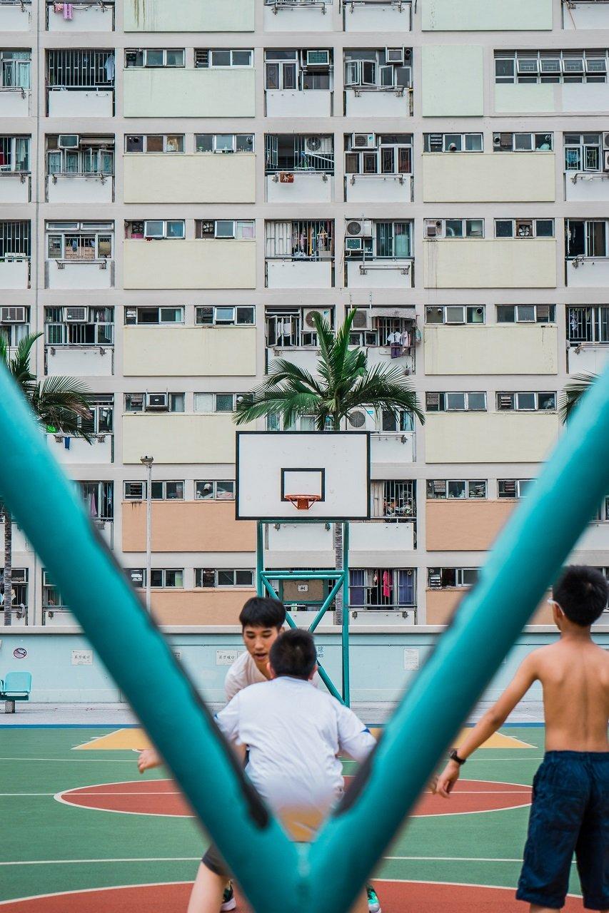 kids playing basketball image