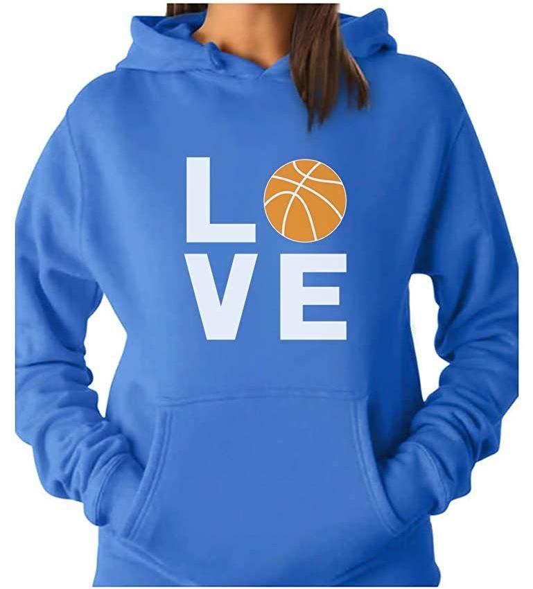 love basketball women hoodie image