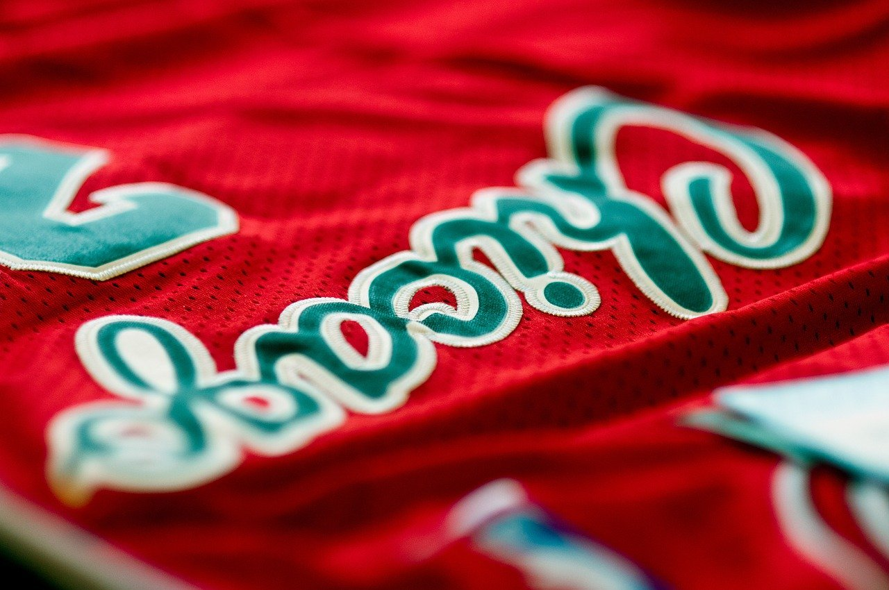 red jersey close up image